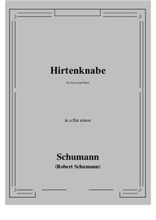 Hirtenknabe: A flat minor by Роберт Шуман