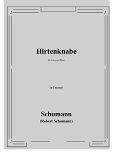 Hirtenknabe: F minor by Роберт Шуман