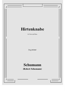 Hirtenknabe: G minor by Роберт Шуман