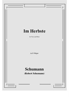 Im Herbste: G Major by Роберт Шуман
