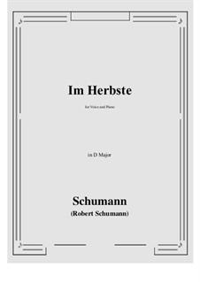Im Herbste: D Major by Роберт Шуман