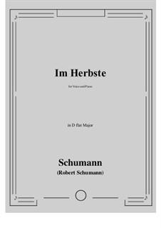 Im Herbste: D flat Major by Роберт Шуман