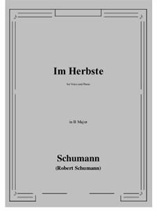 Im Herbste: B Major by Роберт Шуман