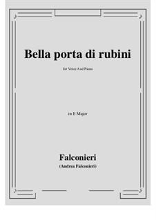 Bella porta di rubini: E Major by Андреа Фальконьери
