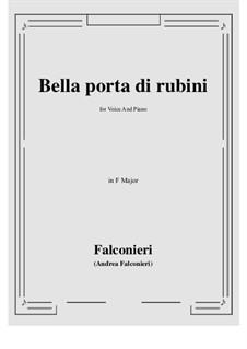 Bella porta di rubini: Фа мажор by Андреа Фальконьери