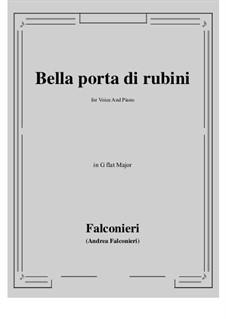 Bella porta di rubini: G flat Major by Андреа Фальконьери
