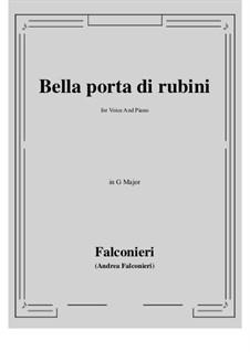Bella porta di rubini: G Major by Андреа Фальконьери