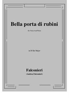 Bella porta di rubini: B flat Major by Андреа Фальконьери