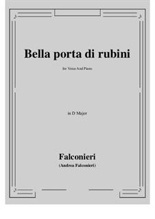 Bella porta di rubini: D Major by Андреа Фальконьери
