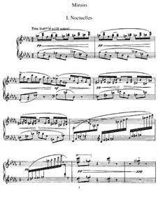 Отражения. Сюита для фортепиано, M.43: Для одного исполнителя by Морис Равель