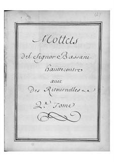 Мотеты для голоса, двух скрипок и бассо континуо: Сборник II by Джованни Баттиста Бассани