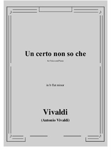 Un certo non so che: B flat minor by Антонио Вивальди