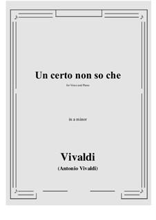 Un certo non so che: A minor by Антонио Вивальди