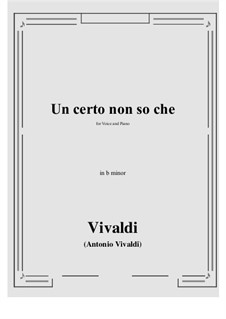 Un certo non so che: B minor by Антонио Вивальди