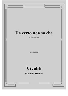 Un certo non so che: C minor by Антонио Вивальди