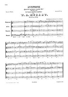 Quaerite primum regnum Dei, K.86: Quaerite primum regnum Dei by Вольфганг Амадей Моцарт
