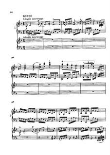 Концерт для фортепиано с оркестром No.1 ре минор, Op.15: Movement III. Version for two pianos four hands by Иоганнес Брамс