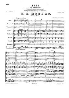 Fra cento affanni, K.88: Fra cento affanni by Вольфганг Амадей Моцарт