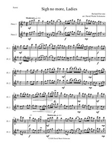 Sigh no more, Ladies: For 2 flutes by Richard Stevens