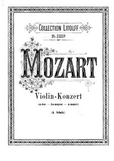 Концерт для скрипки с оркестром No.5 ля мажор 'Турецкий', K.219: Переложение для скрипки и фортепиано by Вольфганг Амадей Моцарт
