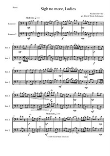 Sigh no more, Ladies: For 2 bassoons by Richard Stevens