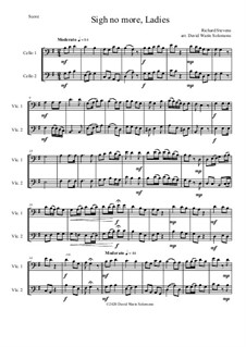 Sigh no more, Ladies: For 2 cellos by Richard Stevens