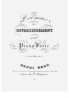 Дивертисмент No.1, Op.15: Для фортепиано by Анри Герц