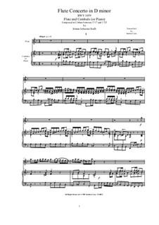 Концерт для гобоя с оркестром ре минор, BWV 1059: Version for flute and cembalo (or piano) by Иоганн Себастьян Бах