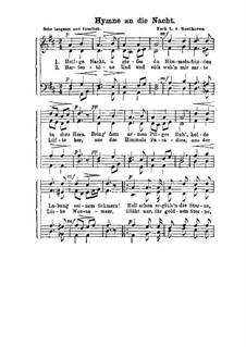 Heilige Nacht O Giesse Du: Вокальная партитура by Людвиг ван Бетховен