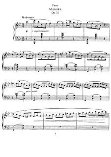 Мазурка си-бемоль мажор, Op.32: Для фортепиано by Габриэль Форе
