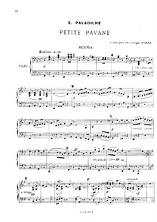 Маленькая павана для фортепиано в четыре руки: Маленькая павана для фортепиано в четыре руки by Эмиль Паладиль