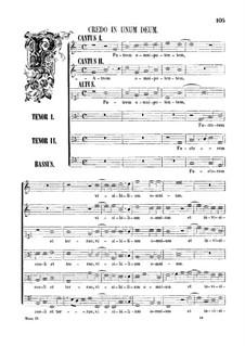 Assumpta est Maria: Credo by Джованни да Палестрина