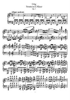 Соната для фортепиано ми минор, Op.7: Для одного исполнителя by Эдвард Григ
