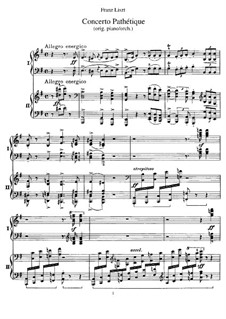 Патетический концерт, S.258: Для двух фортепиано в 4 руки by Франц Лист