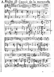 Cançó de la Moreneta for Piano Quintet: Cançó de la Moreneta for Piano Quintet by Antoni Nicolau i Parera