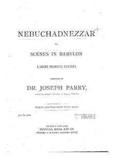 Навуходоносор: Для солистов, хора и фортепиано by Джозеф Парри