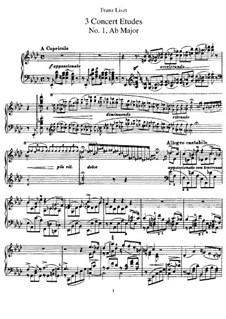 Три концертных этюда, S.144: Сборник by Франц Лист