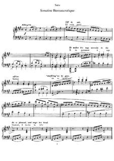 Бюрократическая сонатина: Для фортепиано by Эрик Сати