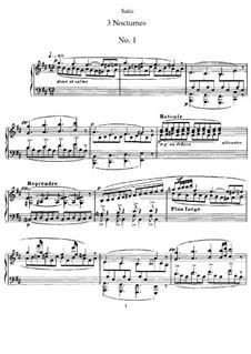 Три ноктюрна: Для фортепиано by Эрик Сати