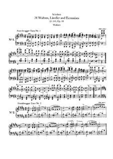 Двенадцать вальсов, семнадцать лендлеров и девять экосезов, D.145 Op.18: Сборник by Франц Шуберт