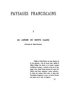Paysages franciscains, Op.43: Paysages franciscains by Габриэль Пьерне