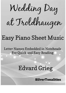 Лирические пьесы, Op.65: No.6 Wedding Day at Troldhaugen, for easy piano by Эдвард Григ