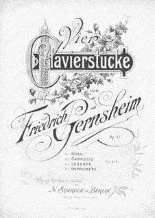 Четыре пьесы, Op.61: Для фортепиано by Фридрих Гернсхайм