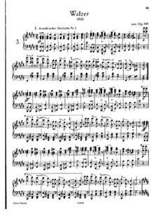 Двенадцать вальсов, семнадцать лендлеров и девять экосезов, D.145 Op.18: Избранные вальсы и экосезы by Франц Шуберт