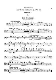 Сюита No.2, Op.55: Партии фаготов by Эдвард Григ