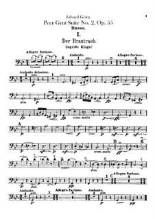 Сюита No.2, Op.55: Партии контрабасов by Эдвард Григ