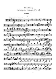 Четыре симфонических танца, Op.64: Партии фаготов by Эдвард Григ