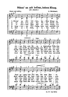 Stimm' an mit hellem, hohem Klang (27. January): Stimm' an mit hellem, hohem Klang (27. January) by Альберт Метфессель