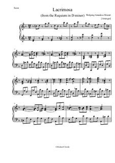 Лакримоза: Для фортепиано by Вольфганг Амадей Моцарт