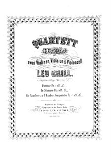 Струнный квартет ми-бемоль мажор, Op.9: Партии by Leo Grill